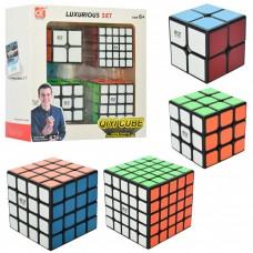 Кубик Рубика - Набор 4 шт - черный пластик (QIYI Cube EQY525)