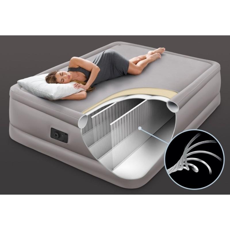 Надувная двухспальная кровать, Foam Top Airbed (Intex 64470)