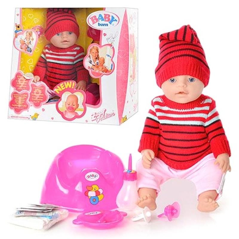 Кукла Baby Born с аксессуарами, аналог (BB8001-G)