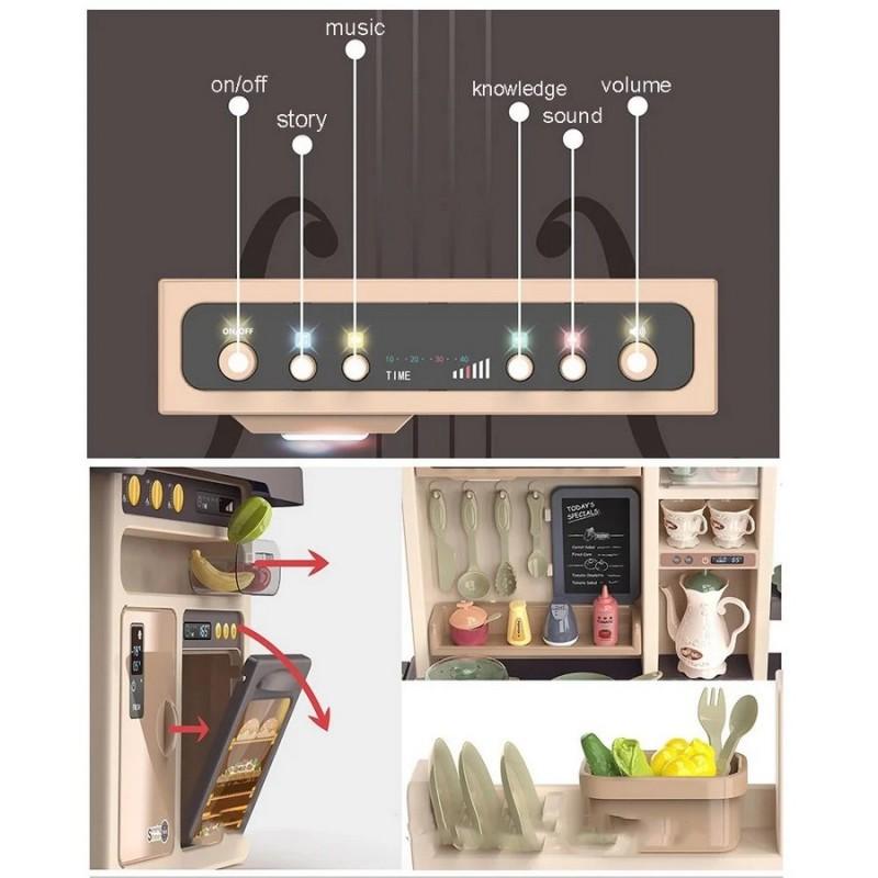 Детская игровая кухня Home Kitchen 93,5 см с водой и паром (арт. 889-211)