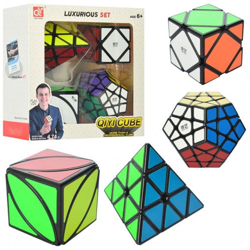 """Набор головоломок 4 шт - """"Кубик Рубика"""" (QIYI Cube EQY527)"""