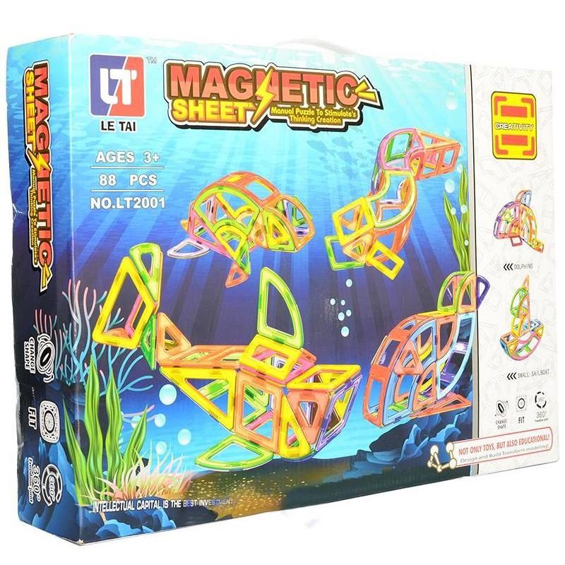 Конструктор магнитный Magnetic Sheet - Водный мир, 88 дет (MagKiss LT2001)