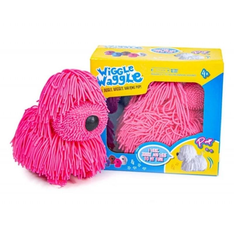 Интерактивная игрушка - Озорной Щенок WIGGLE WAGGLE, Розовый (арт. JP001