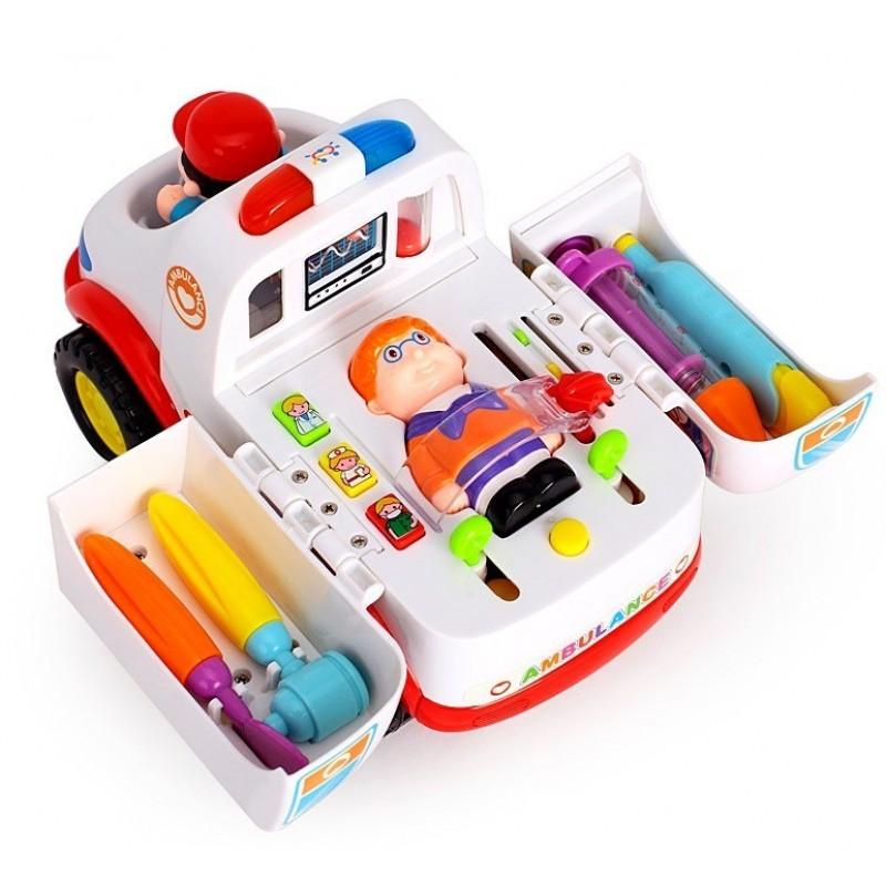 """Интерактивная машинка """"Скорая помощь"""" (Huile Toys 836)"""