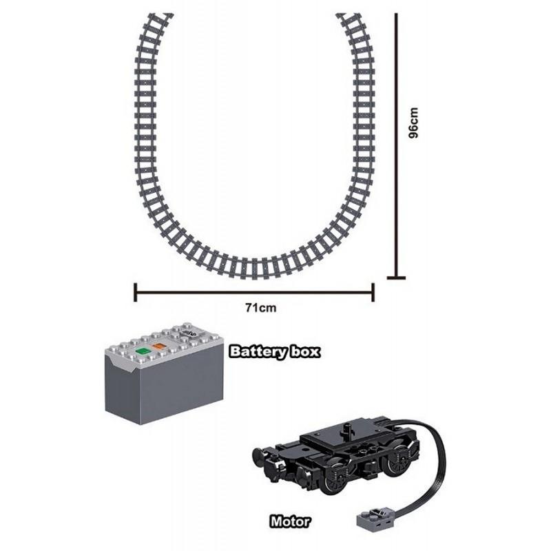 Конструктор ZheGao - Скоростной пассажирский поезд с электромотором (арт. QL0307)
