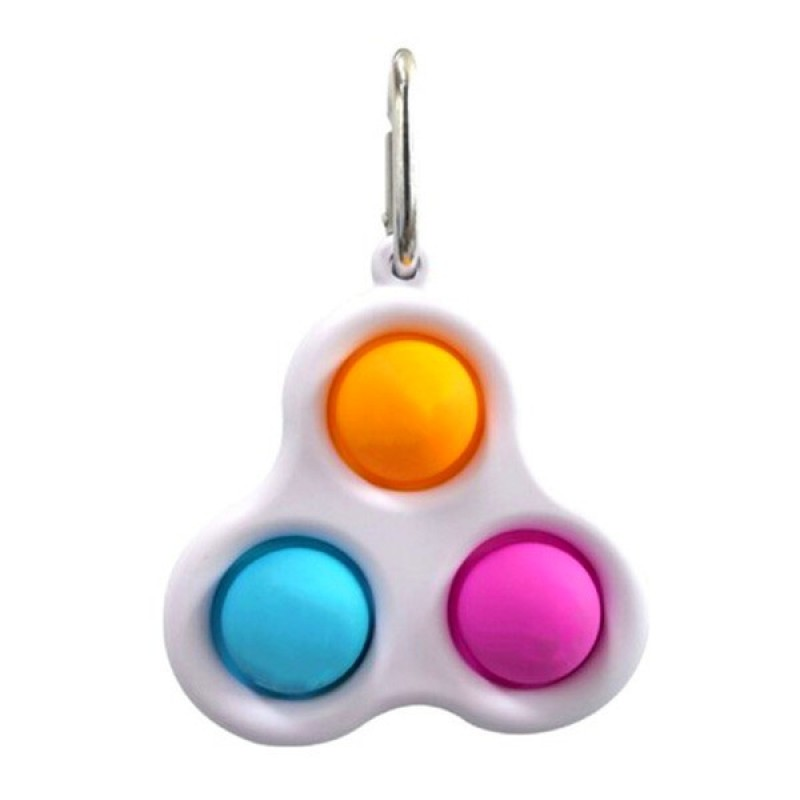 Антистресс сенсорная игрушка - брелок Симпл Димпл -3 пупырки