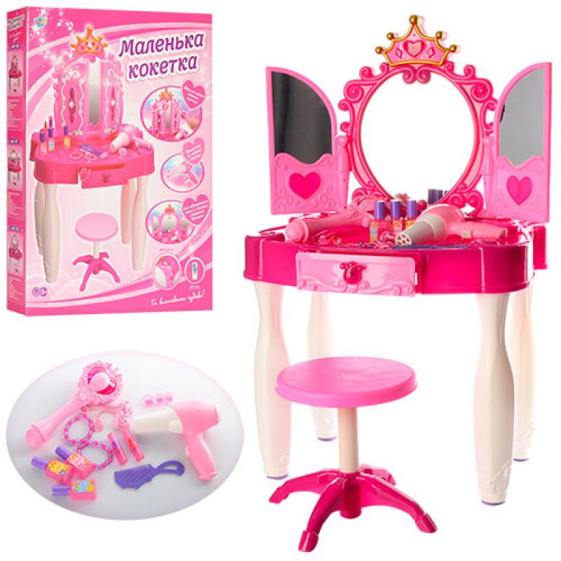Детский туалетный столик - трюмо со стульчиком (арт. 661-21)